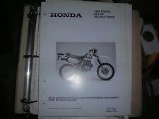 Honda Set Up Instructions Manual 1998 XR650L MPD 7667