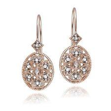 Unbranded Leverback Sterling Silver Fine Diamond Earrings
