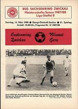 DDR-Liga 87/88 ZEPA Sajonia anillo Zwickau-BSG subcitrato gera, 13.03.1988