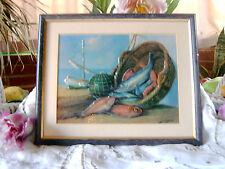 la peche joli tableau décor maritime  =boutique poisson ?????maison plage
