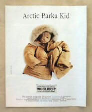 C417-Advertising Pubblicità-1998- WOOLRICH JOHN RICH AND BROS. ARTIC PARKA KID