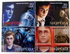 HARRY POTTER STAMPS FROM ALBANIA PROF. DUMBLEDORE HERMIONE LORD VOLDEMORT
