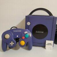Nintendo GameCube Indigo Purple DOL-001 Console w Original Controller & Cables