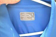 Champions Tour Golf Polo shirt Blue Yellow Gray Men's Large