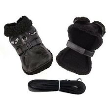 Doggie Design Black Top Dog Flight Outdoor Jacket Coat With Matching Leash