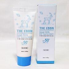 Goat Milk UV SUN Cream SPF 50+ PA+++ Glactomyces Snail Mucin The EBBN 50ml