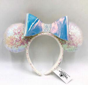 Iridescent Glitter Rare Minnie Ears Sequins Holiday Gift Disney Parks Headband