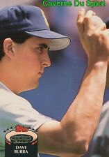 348  DAVE BURBA  SEATTLE MARINERS TOPPS BASEBALL CARD STADIUM CLUB 1992