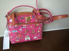 New Disney Dooney & Bourke Park Life Magic Kingdom Pink Purse Crossbody Bag !