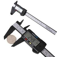"6"" 150mm Carbin Fiber Electronic Digital Vernier Caliper Micrometer Gauge LCD"