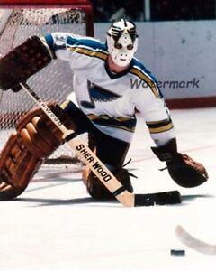NHL 70's St.Louis Blues Goalie Ed Staniowski Game Action 8 X 10 Photo