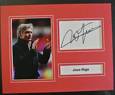 A 10 x 8 inch mounted display personally signed Jose Riga of Charlton Athletic.
