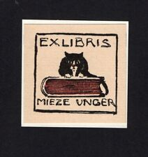 09)Nr.107- EXLIBRIS- Otto Ubbelohde, 1902, Katze / cat
