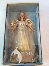1999 Angelic Inspirations Blonde Barbie Doll Holiday Angel # 24984 New
