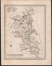 1848 ANTIQUE COUNTY MAP - BUCKINGHAMSHIRE BEACONSFIELD AYLESBURY WINSLOW