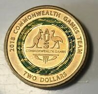week 2 $2 Coin Blue /& Yellow 1 x 2018 Commonwealth Games SHINY /& NEW!!