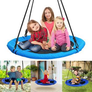 100cm Kids Giant Outdoor Garden Nest Rope Swing Seat Tree Spider Net Yard Toys