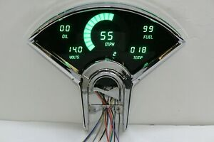 Chevy Bel Air DIGITAL DASH PANEL FOR 1955-1956 Gauges Intellitronix GREEN LEDs!!