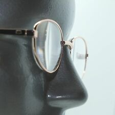 Petite Gold Metal Wire Frame Oval Classic Simple Reading Glasses +1.00 Lens