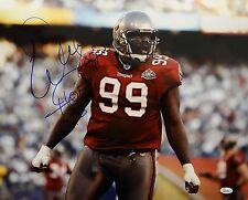 Warren Sapp HOF Autographed 16x20 Tampa Bay Horizontal Photo- JSA W Auth