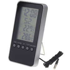 DIGITAL INDOOR OUTDOOR MAX MIN THERMOMETER WITH CLOCK AND ALARM FUNCTION IN-101