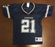 Rare Vintage Champion NFL Dallas Cowboys Deion Sanders Football Jersey Kids  M