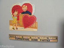 Vtg 20's 30's Valentine Card Puppy Dog Ice Tongs Man Sweet But Cold