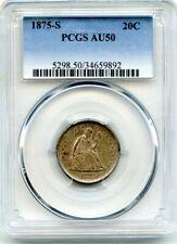 C11740- 1875-S TWENTY CENT PIECE PCGS AU50