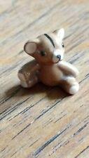 Vintage Hagen Renaker Monrovia teddy bear lined mouth ceramic miniature animal