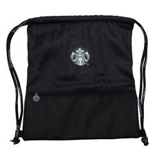 2018 Taiwan Starbucks  black String Bag with front zipper , NEW