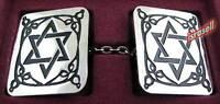Star of Magen David Tallit Clips - Judaica Tallis - Jewish Prayer Shawl - Gift