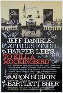 Full Original Broadway Cast Jeff Daniels Signed TO KILL A MOCKINGBIRD Poster