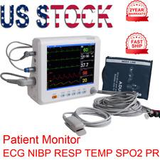 8 Medical Icu Patient Monitor Vital Sign Ecgnibpspo2tempresppr Heart Rate