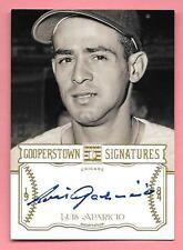 2013 Panini Cooperstown Signatures #LAP Luis Aparicio On Card Autograph #029/125