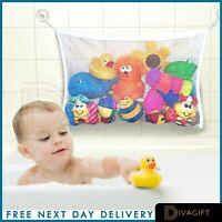 Kids Baby Bath tub Toy Tidy Storage Bag Suction Cup Mesh Bathroom Organiser Net