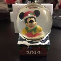Disney 2014 Mickey Mouse No Kid Hungry Collectible Snow Globe New in Box NIB