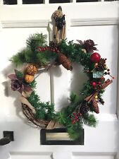 *Sale!* Large Vintage Style Rustic Luxury Deluxe Christmas Door Wreath Handmade