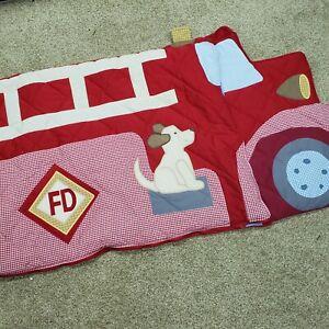 Pottery Bark Kids Fire Truck Engine Sleeping Bag Mat