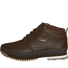 NEW Lacoste Mens Upton Hiker Leather Boots Brown 12 UK / 47 EU