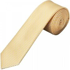 Gold Diamond Neat Skinny Men's Tie Slim Tie Thin Tie Neck Tie Wedding Tie
