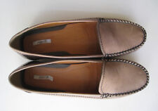 GEOX RESPIRA BROWN LEATHER LOAFERS WOMEN size US 9.5 EUR 39.5  COMFORT