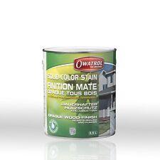 Owatrol Solid Color Stain weiss 1l Wetterschutzfarbe matt