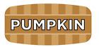 "Pumpkin Labels 1000 per Roll Food Store Flavor Stickers .625"" X 1.25"""