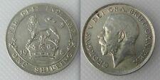 Chelín plata 1918 Coleccionable moneda del Rey George V Lot5