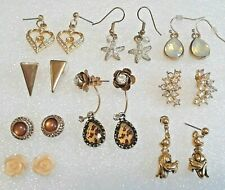 Disney Goofy gold tone earrings and other pierced earrings with stones
