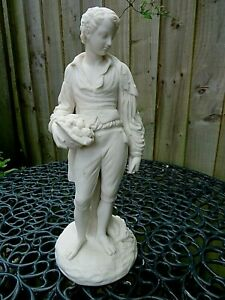"""ANTIQUE 19THC PARIAN FIGURE OF A YOUNG MAN """"PAUL"""" C1870 ROBINSON & LEADBEATER"""
