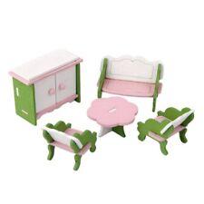Puppenhaus Zubehör Möbel Miniaturen Holz Wohnzimmer 5-tlg. 8126
