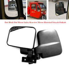 1 Pair Black Flat Mirror Safety Rearview Mirror Electrical Tricycle Pedicab Part