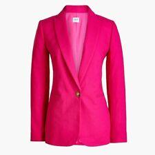 NWT J. Crew Hot Pink Linen-Cotton Blazer Size 6 NEW BEGONIA