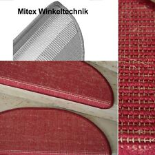 Abverkauf Stufenmatte Sisal Bouclé fein Rot Natur Naturfaser m. Metallwinkel